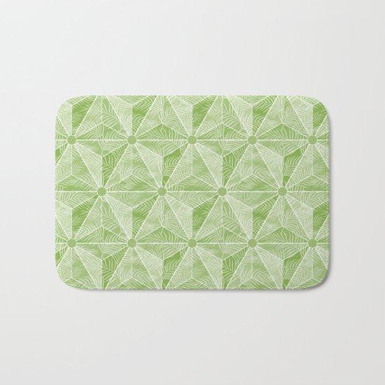 Geodesic Palm_Green Bath Mat