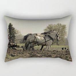 Tilling the Fields Rectangular Pillow