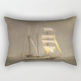Sailing Ship In A Storm Rectangular Pillow