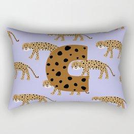 letter C, cheeta Rectangular Pillow