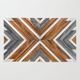 Urban Tribal Pattern 4 - Wood Rug