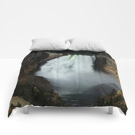 Yellowstone River Falls Comforters