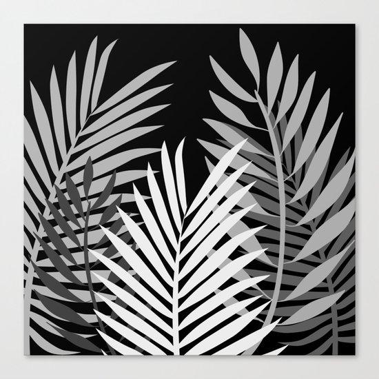 TROPICAL PALM LEAVES 1 Canvas Print