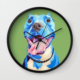 Ziggy the Pit Bull Terrier Wall Clock