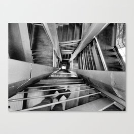 Stairwell in Black and Whie Canvas Print
