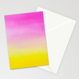 Abstract painting in modern fresh colors Stationery Cards