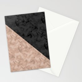Brown , gray , mixed , patchwork Stationery Cards