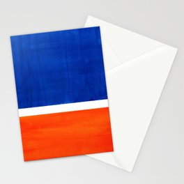 Colorful Bright Minimalist Rothko Orange And Blue Midcentury Modern Art Vintage Pop Art Stationery Cards