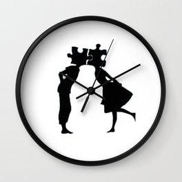 Puzzle Woman Man Wall Clock