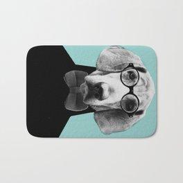 Mr Italian Bloodhound the Hipster Bath Mat