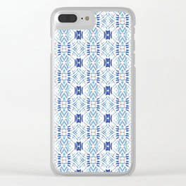 Asian Blue - inspired by Japanese textiles Clear iPhone Case