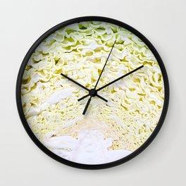 Green Cabbage Wall Clock