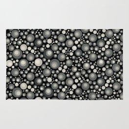GOTH - grey bubbles on black Rug
