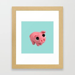 Rosa the Pig is shy Framed Art Print