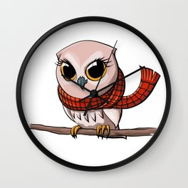 Scarf Owl Wall Clock