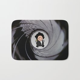 The pig with the golden gun Bath Mat