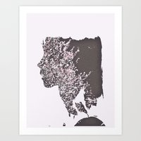 blush Art Prints featuring Blush by Jane Lacey Smith