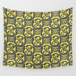 Dark grey and yellow Wall Tapestry