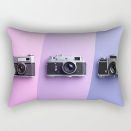 Multiple vintage cameras Rectangular Pillow