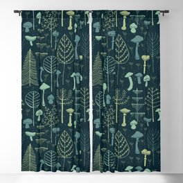 Magic Forest Green Blackout Curtain