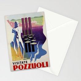 Pozzuoli ancient Greek Roman city Italy travel ad Stationery Cards