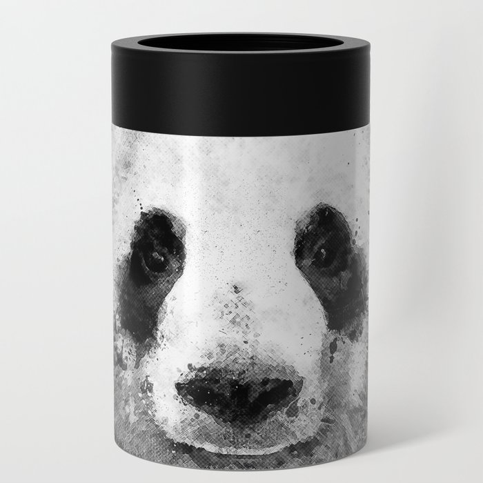 Cool Abstract Graffiti Watercolor Panda Portrait In Black White Can Cooler By Badbugsart