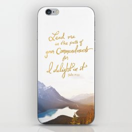 Psalm 119:35 iPhone Skin