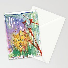 Lonely Lion Hearts Stationery Cards