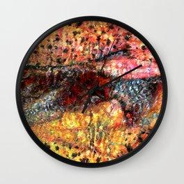 Sedimentary Rock Abstract Wall Clock