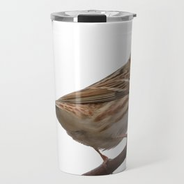 Rustic Bunting Bird Vector Isolated Travel Mug