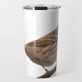 Rustic Bunting Bird Vector Isolated Travel Mug