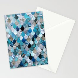 Mermaid Ocean Blue Stationery Cards