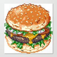 burger Canvas Prints featuring Burger by noirlac