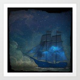 Ships and Stars Art Print