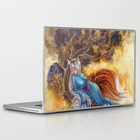 kitsune Laptop & iPad Skins featuring Kitsune by Nemeth Alina