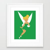 tinker bell Framed Art Prints featuring Tinker Bell by Adrian Mentus