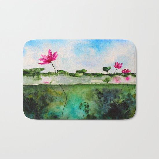 Lotus pond Bath Mat