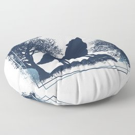 Wolf Nature Mountains Floor Pillow