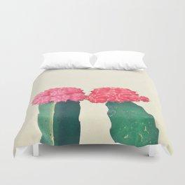 Plaid Cacti Duvet Cover