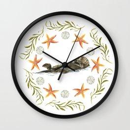 Sea Otter Mandala 1 - Watercolor Wall Clock