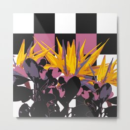 NATURE CHECKERBOARD Metal Print