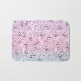 Mermaid Princess Glitter Scales #1 #shiny #pastel #decor #art #society6 Bath Mat