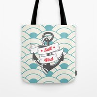sailing Tote Bags featuring Sailing by 16floor