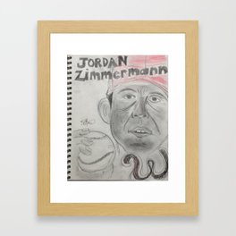 Jordan Zimmerman Framed Art Print