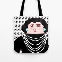 coco Tote Bags featuring Coco by Late Greats by Chen Reichert