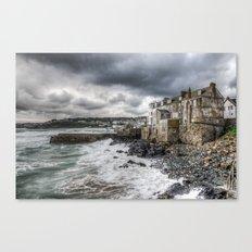 St. Ives. Crashing Waves. Canvas Print