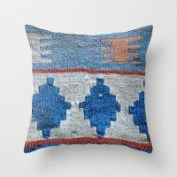 kilim Throw Pillows featuring afghani kilim by sara gering