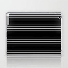 Thin White Lines - Blakc and white stripes Laptop & iPad Skin