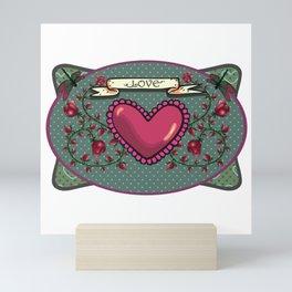 love  and heart Mini Art Print