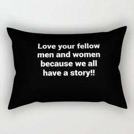 Just love one another Rectangular Pillow